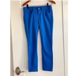 Jcrew royal blue ankle toothpick jeans size 27